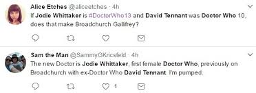 Doctor Who Congratulations Card Fans Realise How Broadchurch And Doctor Who Are Connected Daily