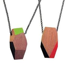 wooden necklaces geometric wooden necklaces treehorn design