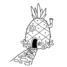 how to draw spongebob squarepants u0027 pineapple house with drawing
