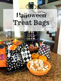 halloween treat bags patina and paint