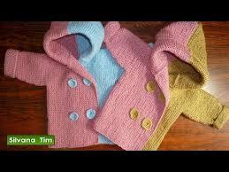 sueter tejido a dos agujas youtube abrigo o saquito chaqueta para bebés de 0 meses a 2 años tejido