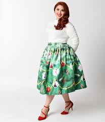 light up christmas skirt unique vintage plus size 1950s green light up christmas tree high