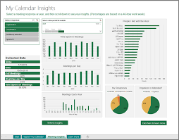 Excel Template Dashboard Manage Your Calendar With The Calendar Insights Template For Excel