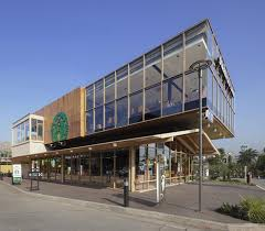 Glass Box House This New Starbucks Is Built Like A Glass Box Sitting On A House