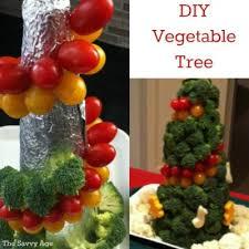 diy vegetable tree centerpiece the savvy age
