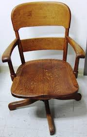 vintage solid oak office arm chair made by chair co