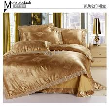 Bed Sheet Set 4pcs Luxurious Embroidery Jacquard Satin Bed Sheet Set