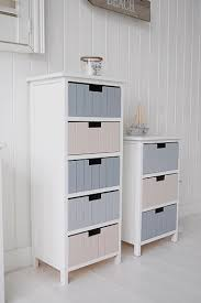 beach free standing bathroom tallboy cabinet furniture with 5