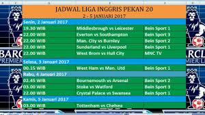 Jadwal Liga Inggris Jadwal Liga Inggris Pekan Ke 20 Berlangsung Pada 2 5 Januari