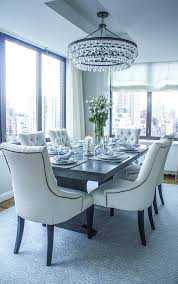 transitional dining chair dining room transitional with city view