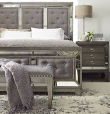 Avalon Bedroom Set Ashley Furniture Lenox Platinum Painted Upholstered Panel Bedroom Set From Avalon