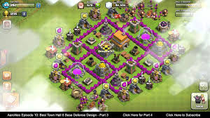 best town hall level 6 th6 base defense design layout strategy
