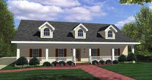 house plans with front and back porches a front porch 6 4 and a rear patio adorn the exterior of