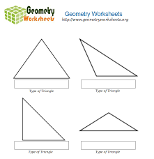 geometry worksheets for types of triangles 1 geometry worksheets org