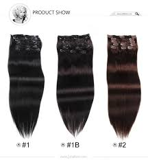 real hair extensions malaysian hair clip in hair extensions 80g