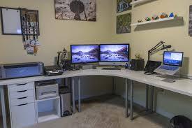 ikea home office setup l desk ikea shaped with storage kids and