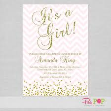 pink and gold baby shower invitations glitter pink gold baby shower invitation party pop