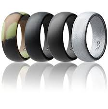 silicone wedding bands 4 silicone wedding ring men rubber band camo silver black grey
