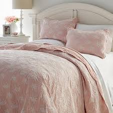 cottage collection blush lace overlay 3 quilt set 8620322 hsn