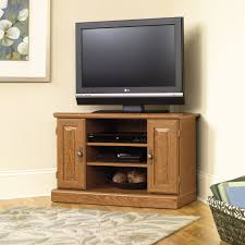 furniture small corner sauder tv stand made of wood with double