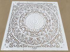 Oriental Design Hand Carved Wood Panel Wall Art Sculpture Teak Par Siamsawadee