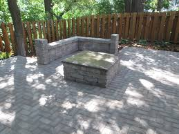 Paver Patio Installation by A Paver Patio Sitting Wall And Fire Pit Design And Installation