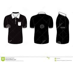 polo shirt design templates front back and side views stock