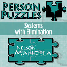 person puzzle systems with elimination nelson mandela worksheet