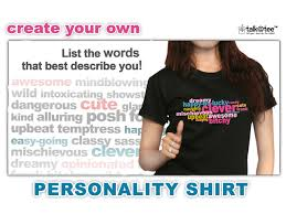Statement Shirt Create Your Own Personality Shirt Let Your Tees - Design your own t shirt at home