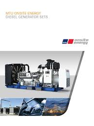 diesel generator set brochure diesel engine cogeneration