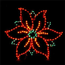 34 lighted poinsettia small holidynamics lighting
