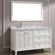 bathe 55 inch contemporary bathroom vanity white finish