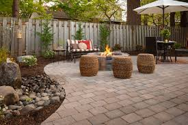 Backyard Stone Ideas Backyard Pavers Ideas Patio Contemporary With Outdoor Furniture