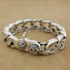 solid sterling silver mens bracelet images 925 sterling silver cube bali byzantine king chain mens biker jpg