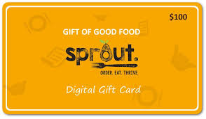 dinner gift cards tasty sprout gift cards now available eat sprout