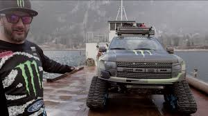 monster energy ken block showcases ford 150 raptortrax