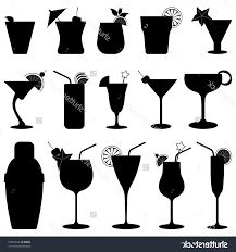mixed drink clipart black and white best stock vector cocktail drink fruit juice silhouette file free