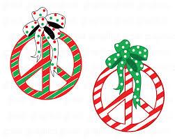 peace sign christmas cards christmas lights decoration