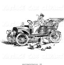 wrecked car drawing royalty free man stock vintage car designs