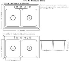 Kitchen Sink Width Average Kitchen Sink Dimensions Rapflava