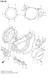 2003 suzuki rm250 crankcase cover water pump model k3 k4 k5
