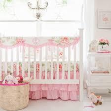Pink Floral Crib Bedding Pink Crib Rail Cover Pink Crib Bedding Floral Baby