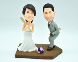 baseball wedding cake toppers baseball wedding cake topper custom cake topper custom bobbleheads
