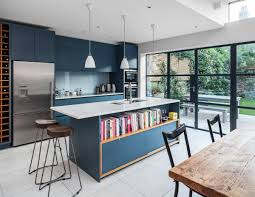 blue modern kitchen cabinets 30 beautiful blue kitchens to brighten your day