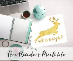 free gold foil reindeer silhouette printable eventful