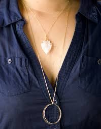 double circle long necklace images Double circle long necklace bodhi tree jewelry jpg