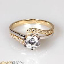 eljegyzesi gyuru 14 karátos arany eljegyzési gyűrű arany eljegyzési gyűrűk