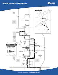 Marta Rail Map Route 430 U2013 Mcdonough To Downtown Xpress