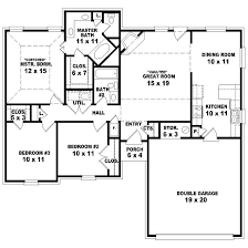 One Story House Plans With Basement Fine Simple 1 Story Floor Plans House Designs T And Design Ideas