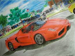 car ferrari drawing ferrari enzo crayon drawing by stevebrandon on deviantart